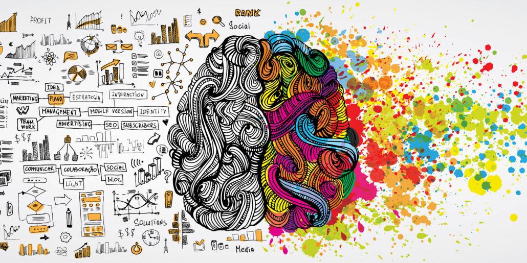 Linke rechte Gehirnhälfte