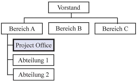Project Management Office (PMO) innerhalb eines bestimmten Bereiches