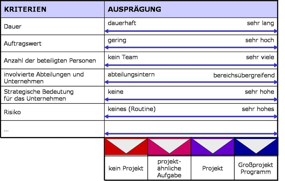 Matrix einer Projektwürdigkeitsanalyse
