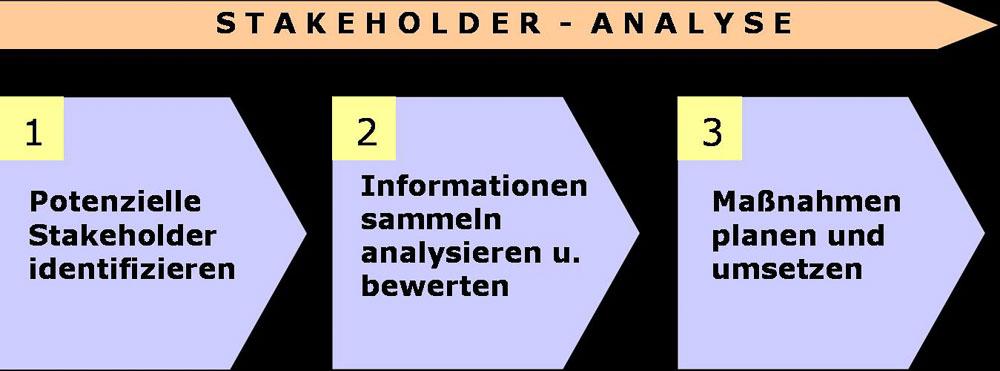 Vorgehen bei Stakeholder Analyse